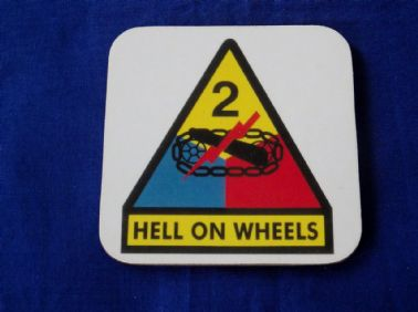 2nd ARMOURED DIVISION COASTER